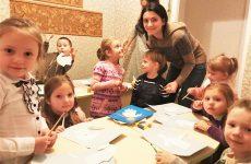 В воскресной школе «Азъ, Буки, Веди» Николо-Софийского храма прошел мастер класс «Ангел Рождества»