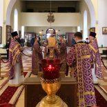В день памяти праведной Софии, княгини Слуцкой, епископ Серафим совершил литургию Преждеосвященных Даров