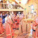 Архиерейское богослужение в день празднования иконы Божией Матери «Живоносный Источник»