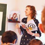 Воспитанники воскресной школы «Азъ, Буки, Веди» встретились с филологом Е.В. Васильковой
