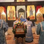 В канун праздника Рождества Пресвятой Богородицы епископ Серафим совершил всенощное бдение в Никольском кафедральном соборе г. Бобруйска