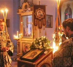 Епископ Серафим совершил повечерие с чтением Великого канона прп. Андрея Критского