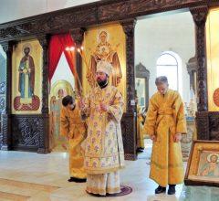 епископ Серафим совершил воскресную Божественную литургию