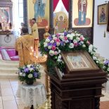 В воскресный день епископ Серафим совершил Божественную литургию в кафедральном соборе города Бобруйска