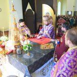 В Великий Четверг епископ Серафим совершил Божественную литургию в Никольском соборе Бобруйска
