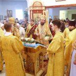 Божественная литургия в Сретенском храме г. Бобруйска