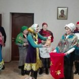 сестричество св. Софии Слуцкой при Иверском храме выступило с Рождественскими поздравлениями в центре поддержки семьи и материнства «Покрова»