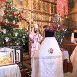 В день праздника Рождества Христова епископ Серафим совершил Великую вечерню