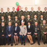 Священник принял участие в церемонии посвящения в кадеты учащихся классов военно-патриотической направленности