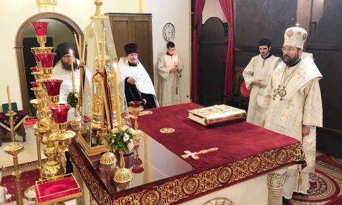 Епископ Серафим совершил всенощное бдение в Никольском кафедральном соборе