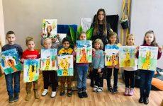 Воспитанники воскресной школы Николо-Софийского прихода посетили мастер-класс по рисованию