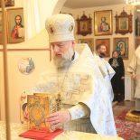 В день памяти великомученика Феодора Тирона епископ Серафим совершил Божественную литургию святителя Иоанна Златоуста в Сергиевском храме пос. Туголица