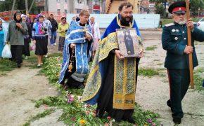 Состоялось принесение в Сергиевский храм поселка Туголица иконы преподобного Гавриила (Ургебадзе)