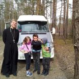 Ученики воскресной школы совершили паломничество к святыням Бобруйской епархии