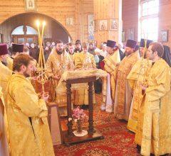 Престольный праздник храма в честь святых бессребреников и чудотворцев Космы и Дамиана д. Любоничи