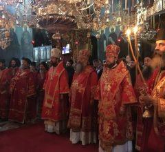 Епископ Бобруйский и Быховский Серафим принял участие в торжествах Пантелеимоновского монастыря на Святой Горе Афон