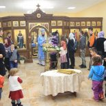 В день праздника Сретения Господня епископ Серафим совершил Божественную литургию в Покровском храме Бобруйска