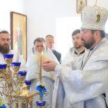 Епископ Серафим совершил великое освящение нового храма и Божественную литургию в с. Корытное