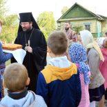 Епископ Серафим совершил Божественную литургию в Престольный праздник Крестовоздвиженского храма города Осиповичи