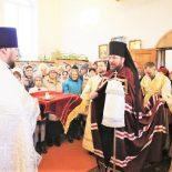 В праздник Богоявления епископ Серафим совершил Божественную литургию и великое освящение воды в Богоявленском храме Глуска