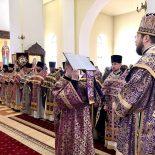 В Никольском кафедральном соборе состоялось собрание духовенства Бобруйской епархии и литургия Преждеосвященных Даров