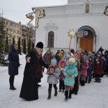 15 января- Рождественский городок в воскресной школе Георгиевского храма