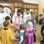 В день праздника Собора Пресвятой Богородицы епископ Серафим совершил Божественную литургию в Покровском храме Бобруйска