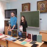 В Воскресной школе Елисаветинского храма студенты-теологи прочитали лекцию, посвящённую 500-летию Библии Франциска Скорины
