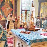 Накануне своего 45-летия епископ Серафим совершил Божественную литургию в Никольском кафедральном соборе г. Бобруйска