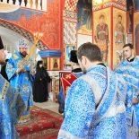 В канун праздника Благовещения Пресвятой Богородицы епископ Серафим совершил Божественную литургию в Барколабовском женском монастыре