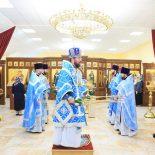 В день праздника Покрова Пресвятой Богородицы епископ Серафим совершил Божественную литургию в Покровском храме г. Бобруйска