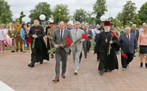 В Бобруйске состоялось перезахоронение в братскую могилу останков советских воинов