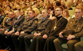 Священник принял участие в торжественном мероприятии, посвященном 100-летию внутренних войск Республики Беларусь