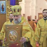 В Неделю 29-ю по Пятидесятнице епископ Серафим совершил Божественную литургию в Георгиевском храме Бобруйска