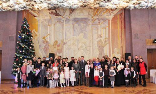 Архиерейский Рождественский прием в честь многодетных семей священников состоялся в г. Бобруйске
