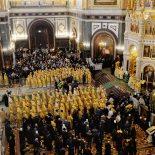 В восьмую годовщину интронизации Святейшего Патриарха Московского и всея Руси Кирилла в Храме Христа Спасителя была совершена Литургия