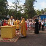 Воскресная Божественная литургия состоялась в епархиальном лагере «Дружба»