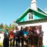 Школьники оказали помощь храму в благоустройстве прилегающей территории